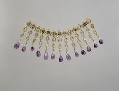 Gold, amethyst, glass and pearl. A.D. 450-550?