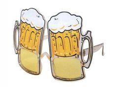 F-001 Fun Party Brille Form: Biergläser Farbe: klar
