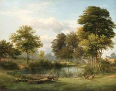 A Scene at Muswell Hill by Edmund Marriner Gill    Date painted: 1855