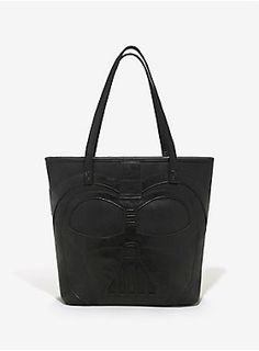 """The only thing that could make this tote bag from Loungefly and <i>Star Wars </i><span>cooler is if it played """"The Imperial March"""" every time you opened it. The faux leather tote features Darth Vader's helmet on one side and a Stormtrooper's helmet on the other. Inside the magnetic snap button closure you'll find a pouch pocket and a zipper pocket. </span><div><ul><li style=""""list-style-position: inside !important; list-style-type: disc !important"""">Officially licensed<br></li><li…"""