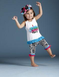 Mud Pie Wild Child Zebra Tunic and Capri Set Summer Girls, Kids Girls, Baby Kids, Girl Toddler, Toddler Dance, Infant Toddler, Baby Baby, Cute Kids, Cute Babies