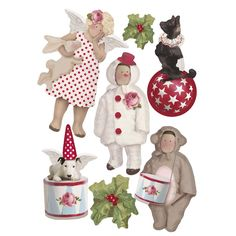 tilda paper cutouts | 3d stickers christmas play £ 4 49 1 comment 4 3d stickers christmas ...