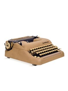 I learned to type on this Smith Corona 5. I love that you can buy it right now at Gilt.com!