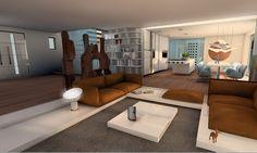 Aranżacja salonu w domu w Saint Tropez