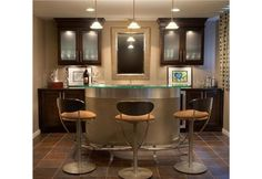 Elegant Contemporary Bar - Home and Garden Design Ideas