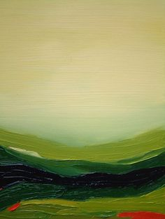 Cream Sky and Brushed Green - Zoe Pawlak