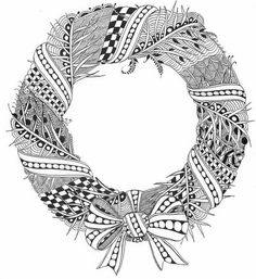 Christmas Coloring Page Printable - wreath