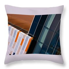 Photography Throw Pillow featuring the photograph Orange And Blue Harmony 1 by Janis Kirstein