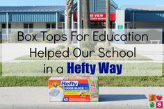 Box Tops For Education Helped Our School in a Hefty Way from Having Fun Saving.