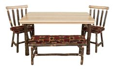 in by Best Craft Furniture in Plymouth, WI - Hickory Dining Table Lodge Furniture, Find Furniture, Dining Room Furniture, Dining Bench, Fun Crafts, Home Decor, Fun Diy Crafts, Decoration Home, Dining Sets
