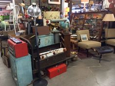Nice industrial pieces always available at Grandstand 76!