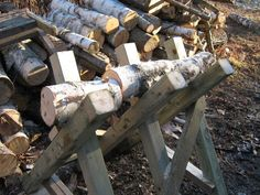 A sawbuck is a stand used for cutting up logs into firewood. The other methods…