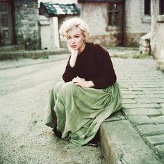 "Actress Marilyn Monroe. ""I'm very definitely a woman and I enjoy it."" Photograph by Milton Greene 1954"