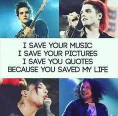 Its so true <3 a good band can make you feel like your not so alone.
