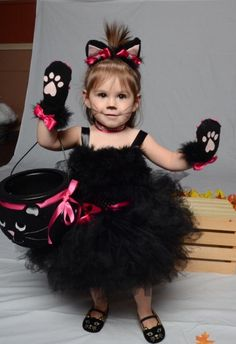25 simple do it yourself halloween costume ideas toddler cat the alora cat costume toddler halloween costume black toddler tutu black cat solutioingenieria Image collections