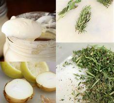 Crème Fraîche oder den Ersatz davon abschmecken und gewürzen