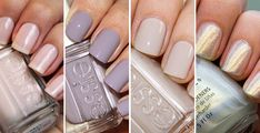 The best colors for a polished, but not a boring manacure!1. Essie Ballet Slippers 2. Essie Bangle Jangle 3. Essie Body Language 4. China Glaze White Cap