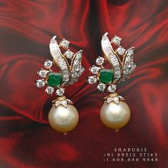 Indian Jewelry Sets, Silver Jewellery Indian, Indian Wedding Jewelry, Silver Jewelry, Jewlery, Diamond Earrings Indian, Diamond Jewelry, Silver Jhumkas, Gold Earrings Designs