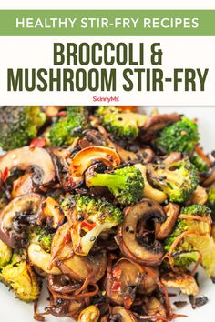 Looking for some fun vegan stir fry recipes? You're in luck! This broccoli and s… Looking for some fun vegan stir fry recipes? You're in luck! This broccoli and shiitake mushroom stir-fry recipe is quick, easy, and healthy. Vegan Stir Fry, Healthy Stir Fry, Stir Fry Vegetables Healthy, Vegetarian Stir Fry, Easy Stir Fry, Tasty Vegetarian Recipes, Healthy Cooking Recipes, Vegetarian Recipes With Mushrooms, Healthy Broccoli Recipes