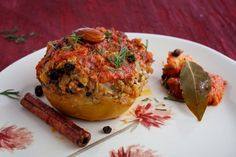 Quince Stuffed With Farro, Nuts and Currants