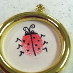 Ladybug thumb print