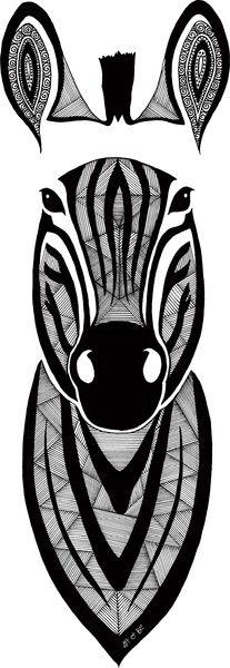 Zebra Doodle - Zèbre Design © Sabrina Beretta - Art et Be Galeries : http://society6.com/artetbe/  http://artetbe.spreadshirt.fr/