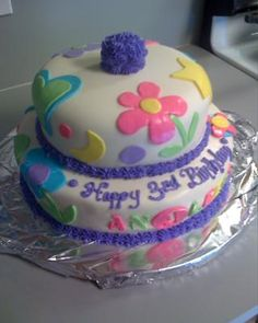 Everything homemade - from the cake to the fondant - this was actually my first attempt at making a fondant