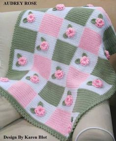Love the colors Victorian 'Audrey Rose' Baby Crochet Afghan Pattern 3 DKnitted Baby Blanket Patterns You can find expressive content here for baby blanket models. Baby blankets and examples are our most valuable handbags for babies, weaving baby blan Poncho Crochet, Baby Afghan Crochet, Baby Afghans, Free Crochet, Crochet Hippo, Afghan Crochet Patterns, Knitting Patterns, Crocheting Patterns, Crochet Motif