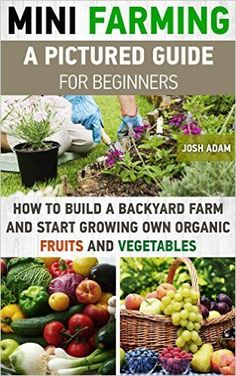 Mini Farming: A Pictured Guide For Beginners: How To Build A Backyard Farm And Start Growing Own Organic Fruits And Vegetables.: (Organic, mini farming ... Homesteading and Urban Gardening Book 3), Josh Adam - Amazon.com