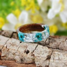 Gifts For Women, Gifts For Her, Promise Rings For Guys, Resin Ring, Wood Resin, Wood Rings, Clear Resin, Unique Rings, Bracelets