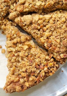 Sour Cream Pear Cake with Pecan Streusel is a lovely, light, simple cake with fresh pears, nuts, cinnamon. - Bake or Break Cake for you Pear Recipes, Baking Recipes, Dessert Recipes, Vitamix Recipes, Cupcake Recipes, Chocolate Chip Cake, Chocolate Chip Oatmeal, German Chocolate, Chocolate Brownies