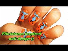 Fred Fintstone Inspired Nail design