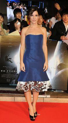 Sandra Bullock in Carolina Herrera