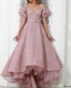 Cheap dubai evening dresses, Buy Quality beaded formal dresses directly from China evening dress pink Suppliers: 2017 Sexy Lace Beaded Formal Dresses Vintage Dubai Evening Dress Pink Off The Shoulder A Line Ankle Length Elegant Party Dress Ball Gowns Evening, Women's Evening Dresses, Backless Evening Gowns, Evening Gowns With Sleeves, Prom Gowns, Birthday Outfit, Trendy Dresses, Formal Dresses, High Low Prom Dresses