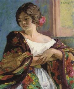Henri Lebasque - Jeune femme au châle