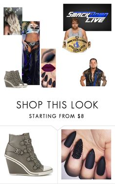 """Ringside for Dean Ambrose VS. Baron Corbin."" by jamiehemmings19 ❤ liked on Polyvore featuring WWE"
