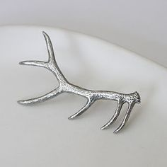 Pewter Antler Brooch - into the woods