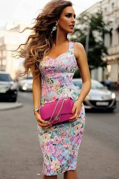 Women Sexy Floral Print Crisscross Back Light-blue Bodycon Dress - XL Women's Fashion Dresses, Sexy Dresses, Beautiful Dresses, Summer Dresses, Floral Bodycon Dresses, Party Dresses, Mini Dresses, Light Blue Bodycon Dress, Womens Light Blue Dress