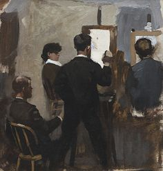 Edmund Charles Tarbell Painting Class at the Academie Julian, Paris, 1883