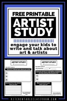 Art history- this would be great to print and add to your history timeline ! Love this idea !