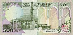 The Somali shilling (sign: Sh.So.; Somali: shilin; Arabic: شلن; Italian: scellino; ISO 4217 code: SOS) is the official currency of Somalia. It is subdivided into 100senti (Somali, also سنت), cents (English) or centesimi (Italian).