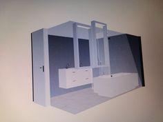 Simpele 3D mogelijk ontwerp badkamer