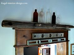 Reclaimed Beam Used As Decorative Doorway Lintel