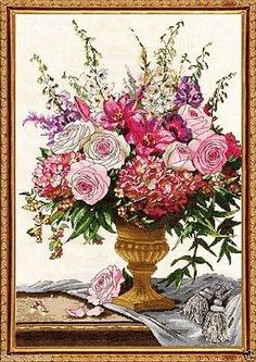 "Design Works Counted Cross Stitch Kit 15"" x 22"" ~ SYMPHONY BOUQUET #2847 Sale"