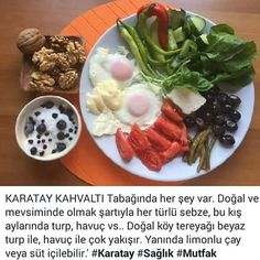Instagram fotoğrafı: Canan Karatay Diyeti • 9 Ocak 2016, 00:22 Fast Weight Loss, Healthy Weight Loss, Fast Walking, Turkish Breakfast, Brunch, Health Fitness, Appetizers, Healthy Recipes, Snacks