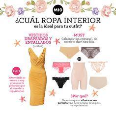 ¿Qué tipo de ropa interior usar con cada prenda?