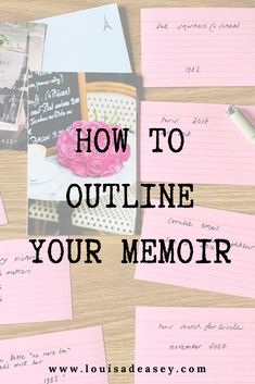 How to outline your memoir using a simple 3 step process. Make sure you write a memoir outline before you start drafting the manuscript! Autobiography Writing, Memoir Writing, Book Writing Tips, Cool Writing, Writing Resources, Start Writing, Creative Writing, Writing Workshop, Writing Process