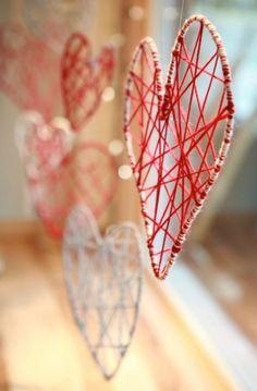 Valentines craft ideas. String art.
