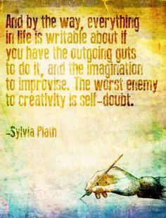I don't know that I should take advice from you Sylvia...you did kill yourself.
