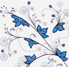 Sky Blue Lilac Flowers drawing / Living Room Decor от DHANAdesign
